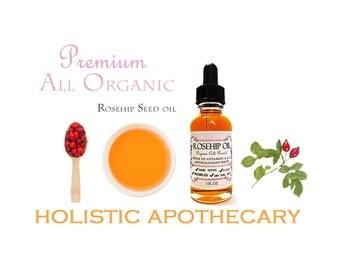 100% Organic ROSEHIP OIL Facial Oil Helps Wrinkles, Dark Spots, Dry Skin , Scars  Anti - Age Face Serum CHEMICAL Free
