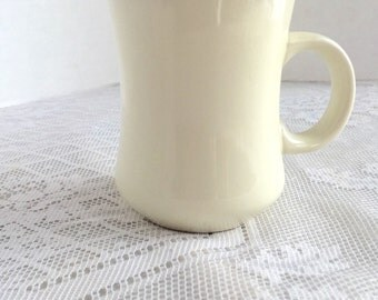 Vintage White Ceramic Restaurant Ware Coffee Cup by Delco Atlantic China