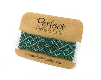 Green Friendship Bracelet // Macrame Jewelry Hippie Gypsy Bohemian Tribal // PerfectImp Best Friend Gift // Handmade Woven Braided Bracelets