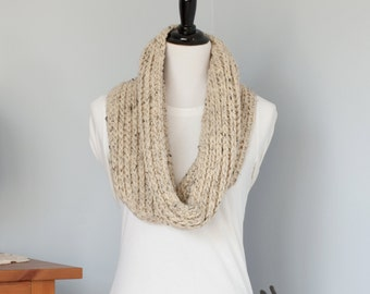 Chunky Crocheted Cowl, Infinity Scarf - The Kall