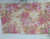 Fashion Manor Vintage Sheet Standard Pillow Case Floral Flowers Pinks PInk Sheets