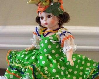 Brazil Madame Alexander 8 inch doll bent knee