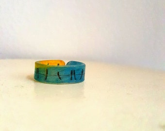 Birds On A Wire Shrink Plastic Ring