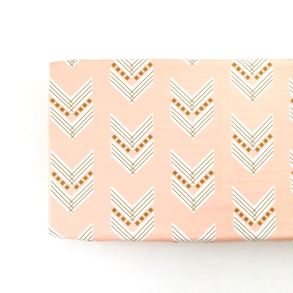 Changing Pad Cover Blush Gold Chevron Change Pad Changing