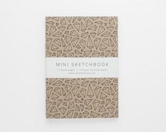 TERRAIN IV mini sketchbook A6 with geometric pattern