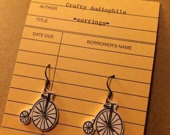 Penny-farthing (Antique Bike) Earrings