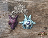 Kindred  Necklace LEAGUE OF LEGENDS Pendant Videogame Wolf and Lamb Pendant Cosplay Larp & Costume