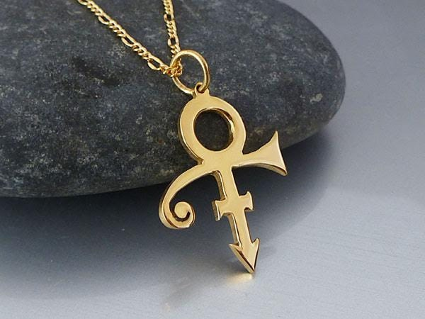 18k gold plated prince symbol necklace prince necklace