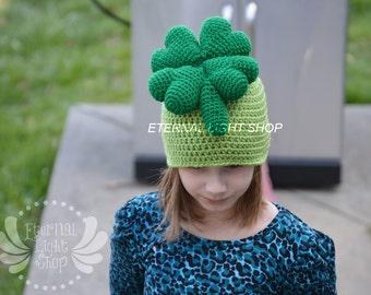 ALL SIZES/COLORS Shamrock Beanie Crochet