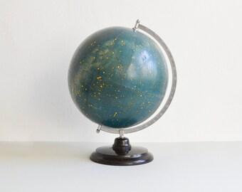 Vintage astronomy globe, sky map, star globe, astronomical map, 60s globe, GDR East German, Mid-Century modern home decor, 109