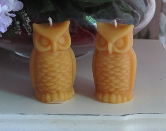 Beeswax Owl Candle Set