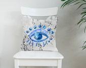 Trafalgar Eye marbled cushion cover