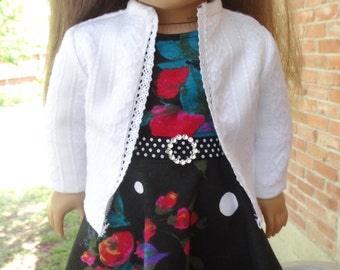 "18"" Doll Clothes Back to School Dress + Sweater Fits American Girl"