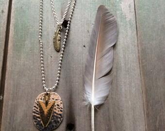 Arrowhead  Necklace/Southwestern/Aztec/Tribal/Mixed Metal