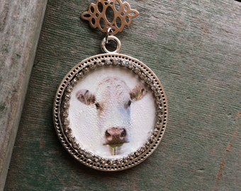 Moo Cow Necklace/Midwest/Boho/Country/Western