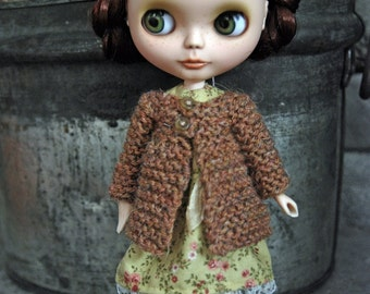 Blythe Doll Knitted Rustic Wool Jacket