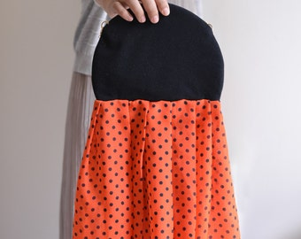 Jelly Dot Fish / Jelly Striped Fish -  ruffle clutch shoulder bag