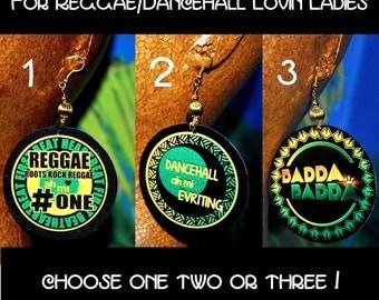 Reggae - Dancehall - BADDABADDA: Message Earrings, round