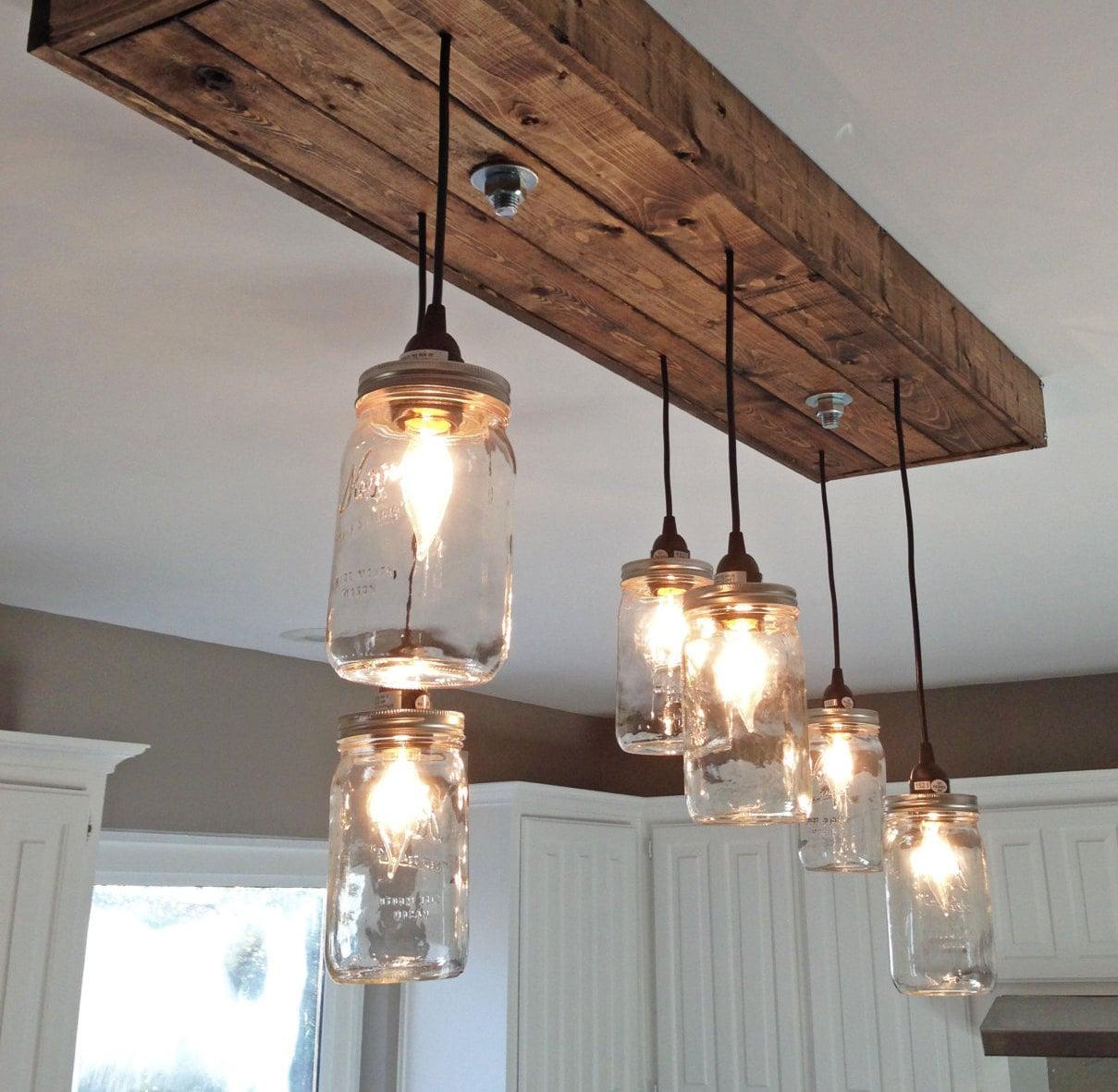 Mason Jar Chandelier. Mason Jar Light Custom Sizing Offered