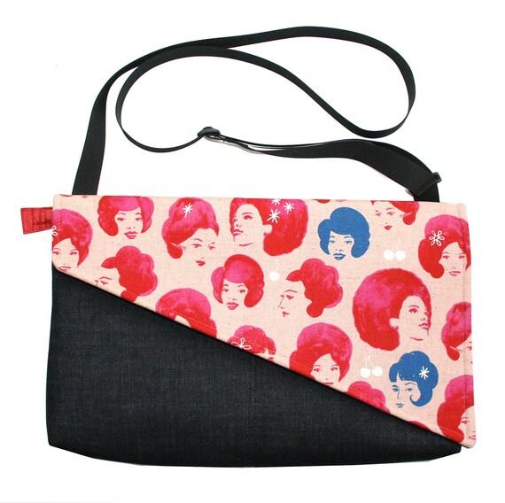 Retro ladies, Messenger bag, cross body bag