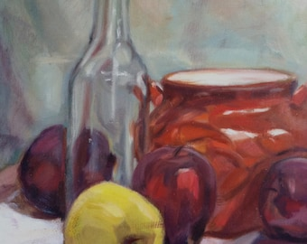 Still Life with Apples, Original Oil Painting
