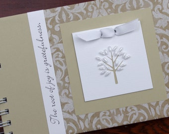 Gratitude Journal | Thankful Journal | Daily Blessings Book | The Root of Joy is Gratefulness | Classic Damask