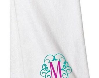 Monogrammed Hand Towel, Hand Towels, Monogrammed Towels, Scroll Monogram, Bathroom, Personalized Towels, Monogram Towel, Embroidered Towels