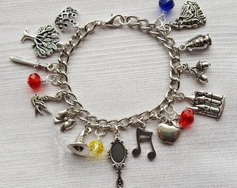 ON SALE Snow White Charm Bracelet