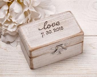 Ring Bearer Pillow Engraved Ring Box Rustic Wood Ring Box Alternative Wedding Ring Box Ring Keepsake Box Ring Holder Burlap Ring Cushion