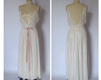 Bridal Lawn Pleated Gown with Silk Slip