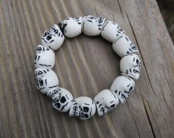 Fun Skull  Stretch Bracelet