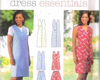 """Vintage 1996 Simplicity 7043 Dress Essentials Dress, Vest, Pants & Shorts Sewing Pattern Size Y 18,20,22 Bust 40"""", 42"""", 44"""" UNCUT"""