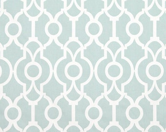 1 yard Snowy Backdrop Lyon - Pale Blue White - Home Decor  - Premier Prints  - fabric by the yard