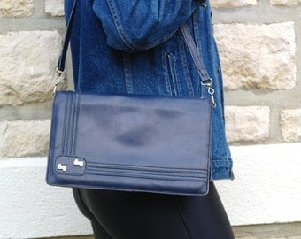 Vintage 70 Navy blue Handbag