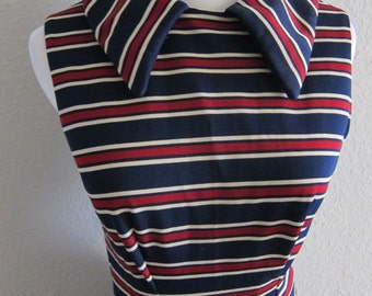 Nautical preppy striped tennis dress - 60s Mad Men Peggy Olson