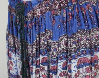 Vintage Boho Indian Gauze Skirt