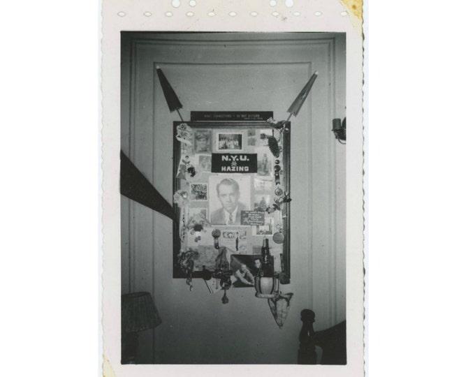 1940s N.Y.U. Memento & Photo Display, Hazing, Parties etc. Vintage Snapshot Photo (511432)