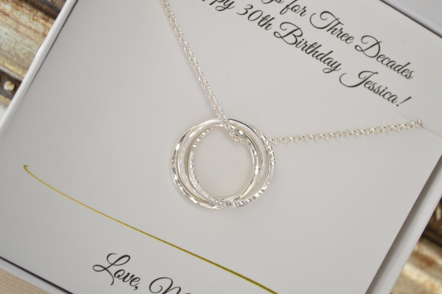 Sister Jewelry 30th Birthday Gift For Daughter 3 Sisters