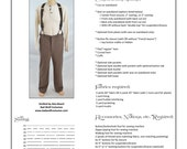 Victorian Trousers Sewing Pattern - Perfect for Steampunk, Doctor Who, and more!