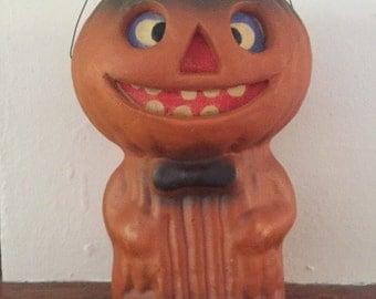 Vintage Stamm House jack o lantern candy holder