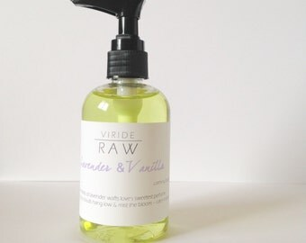 Lavender & Vanilla~calming body oil/Natural moisturizer/Gentle moisturizer/Massage oil/Aromatherapy/Glowing skin/Lavender/Dry oil-5oz.