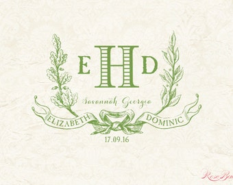 Custom Wedding Monogram - Wedding logo - Digital Monogram