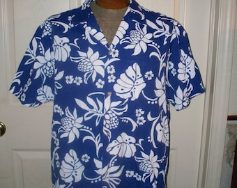 Vintage 1980s Kai Nani Hawaiian Shirt - Mens Hawaiian Shirt - Size XL -  Cotton