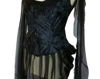 Gothic Vampire Funeral Death Wedding Dress Gown