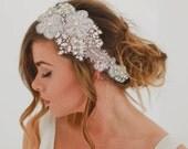 Amelia - Pearl Silk Crystal Hairpiece