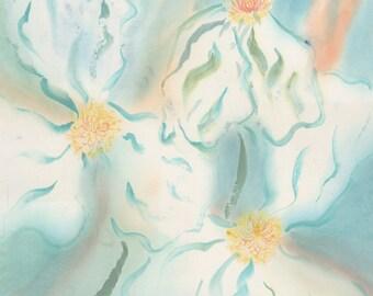 Summer French Poppies Original Chinese Brush Painting