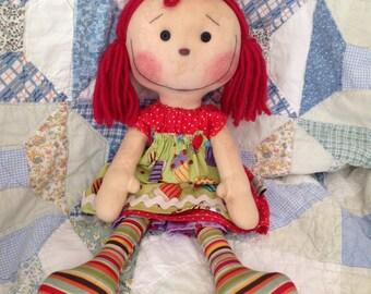 Primitive raggedy Ann doll, Elsie May