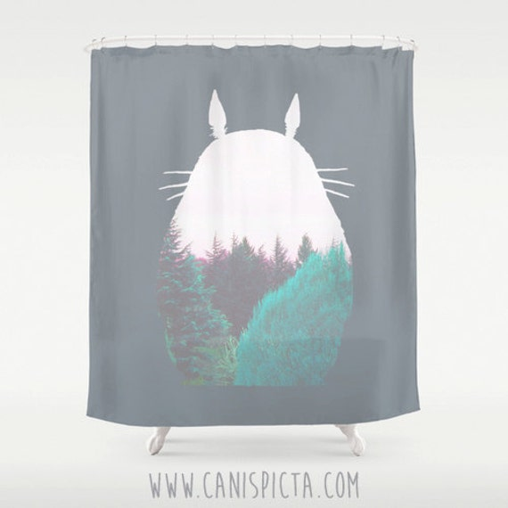 Totoro Shower Curtain 71x74 Studio Ghibli Home