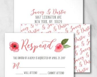 Sunny Reply Card | Digital RSVP Card | Printed RSVP Card | Printed Reply Card |Digital Reply Card