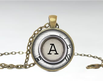 Alphabet Necklace, Initial Jewelry, Name Pendant [A85]